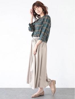 サテンギャザースカート5.jpg