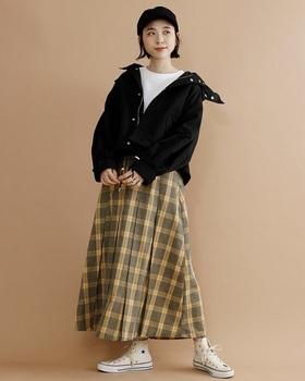 ビックチェックロングスカート4.jpg