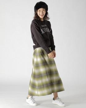 ビックチェックロングスカート5.jpg