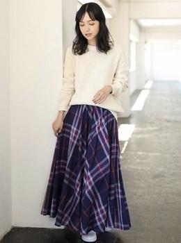 ビックチェックロングスカート6.jpg