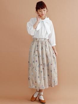 フラワープリントスカート5.jpg