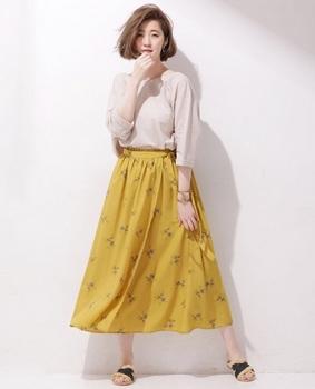 フラワープリントスカート7.jpg