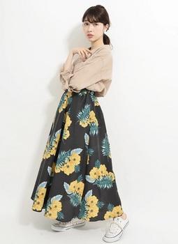 プリントギャザースカート2.jpg